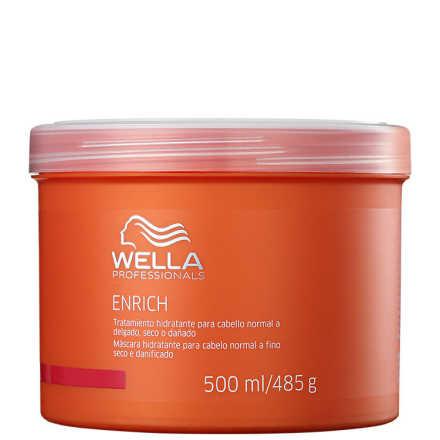 Wella Professionals Enrich Máscara Cabelos Normais a Finos -- Tratamento 500ml