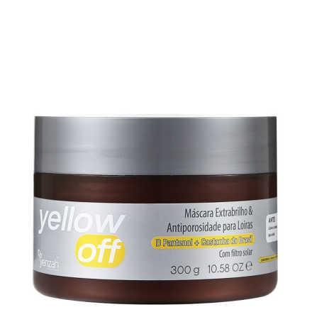 Yenzah Yellow Off Extrabrilho e Antiporosidade - Máscara 300g