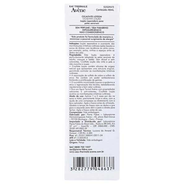Avène Cicalfate Lotion - Loção Regeneradora 40ml