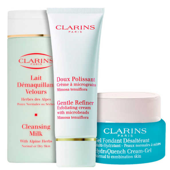 Clarins Gentle Cleansing Hydraquench Kit (3 Produtos)