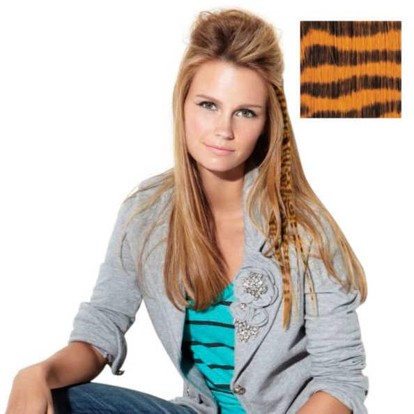 Hairdo Clip-In Animal Print Ginger Tiger - Mecha Lisa Ruiva Estampada 40Cm