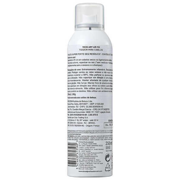 L'Oréal Professionnel Tecni Art Air Fix Force 5 - Spray Fixador Extraforte 250ml