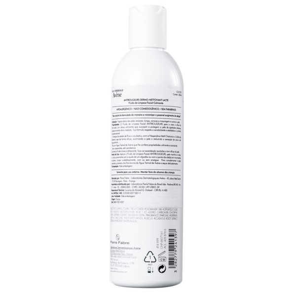 Avène Antirougeurs Dermo-Nettoyant Lacté - Leite de Limpeza 300ml