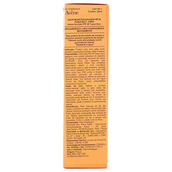 Avène Haute Protection Emulsion SPF30 - Protetor Solar 50ml