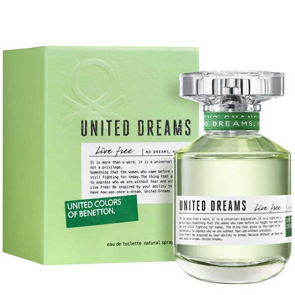 Benetton United Dreams Live Free Perfume Feminino - Eau de Toilette 50ml