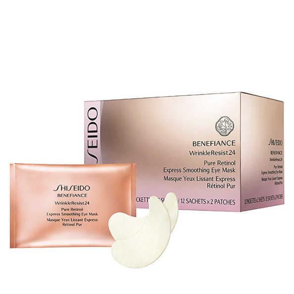 Shiseido Benefiance Wrinkle Resist 24 Pure Retinol Express Smoothing Eye Mask - Máscara Anti-Idade para Olhos 12 Un