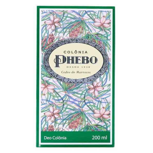 Phebo Mediterrâneo Colônia Cedro do Marrocos Perfume Unissex - Eau de Cologne 200ml