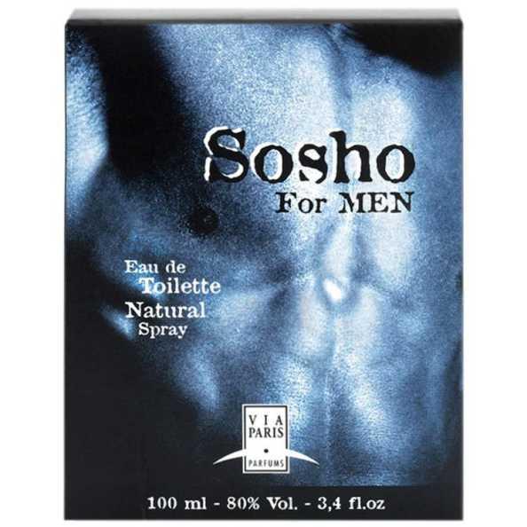 Via Paris Perfume Masculino Sosho For Men - Eau de Toilette 100ml
