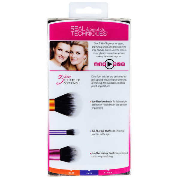Real Techniques Duo Fiber Collection Kit (3 Produtos)