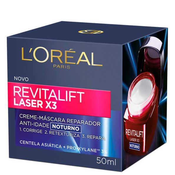 L'Oréal Paris Dermo-Expertise Revitalift Laser X3 Noturno  – Creme Anti-Idade 50ml