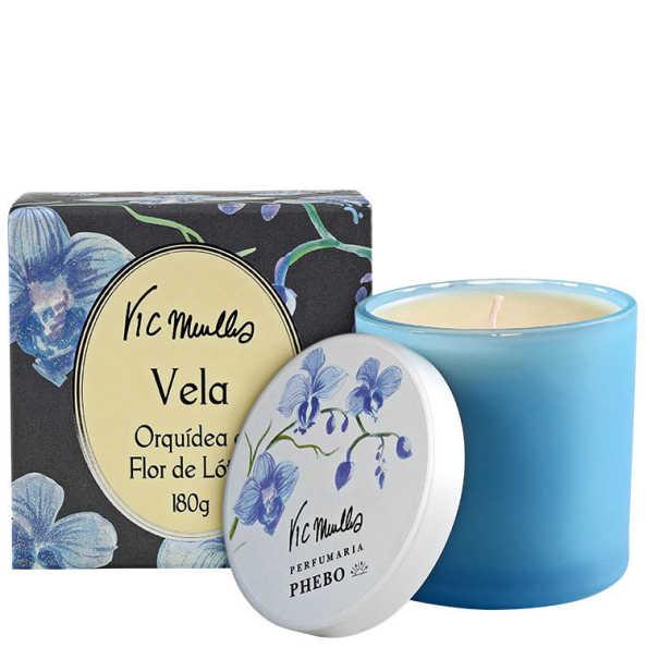 Phebo Perfumaria Vic Meirelles Orquídea e Flor de Lótus - Vela Perfumada 180g