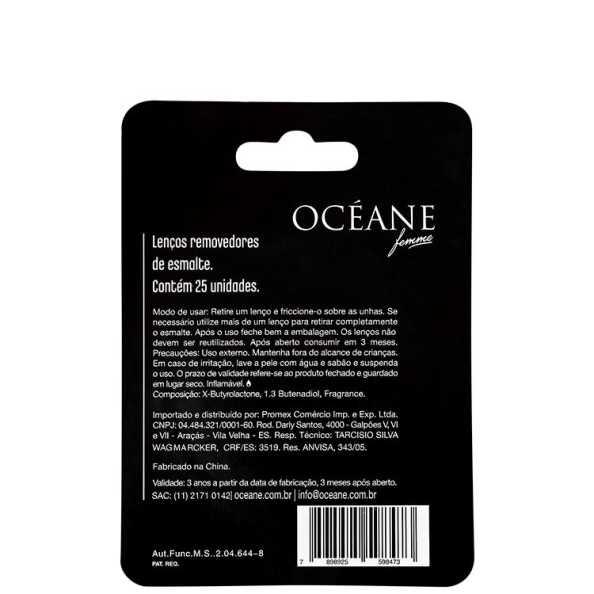Océane Femme Clean My Nails To Go Wild Strawberry - Lenço Removedor de Esmalte 25un (Cartela)