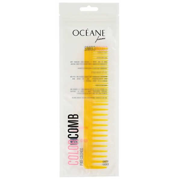 Océane Femme Color Comb Slim Amarelo - Pente