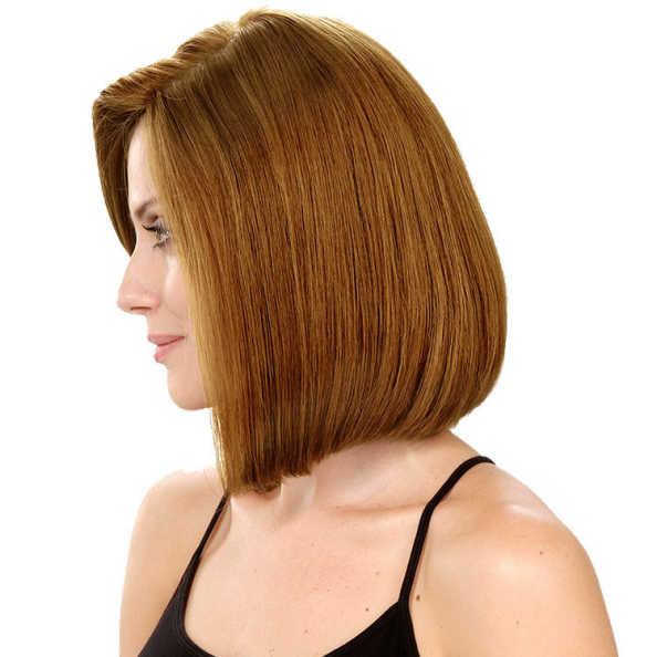 Crown Wigs Bianca Cor Castanho Claro/Louro Médio - Peruca 30cm