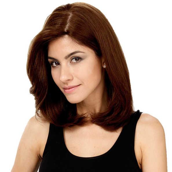 Crown Wigs Carol Cor Castanho Médio - Peruca 35cm