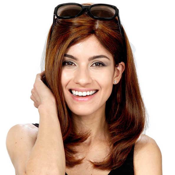 Crown Wigs Diana Cor Castanho Médio/ Claro - Peruca 45cm