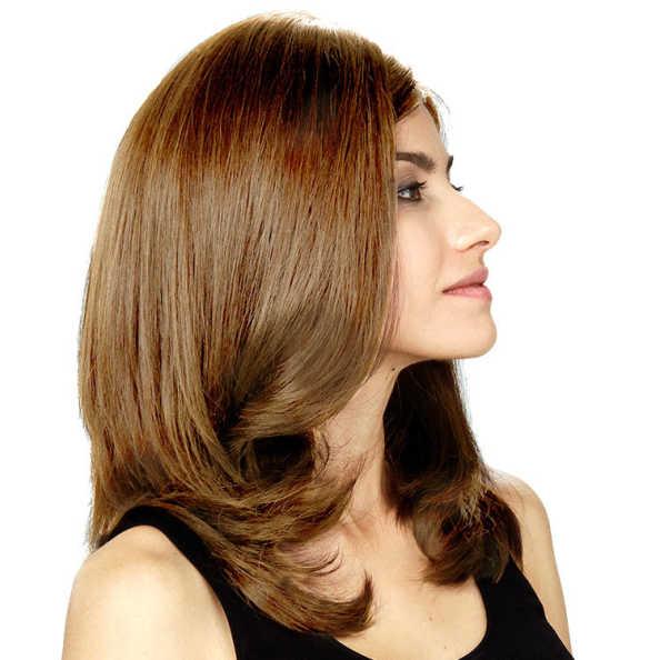 Crown Wigs Diana Cor Louro Claro/ Escuro - Peruca 45cm
