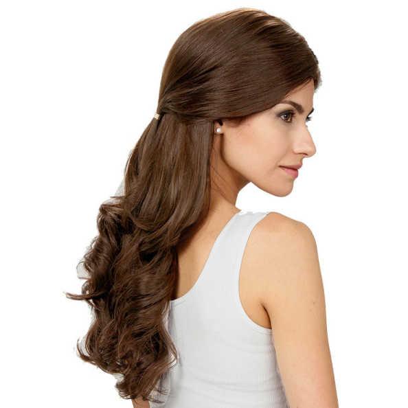 Crown Wigs Estela Cor Castanho Médio/ Claro/ Louro Escuro - Peruca 56cm
