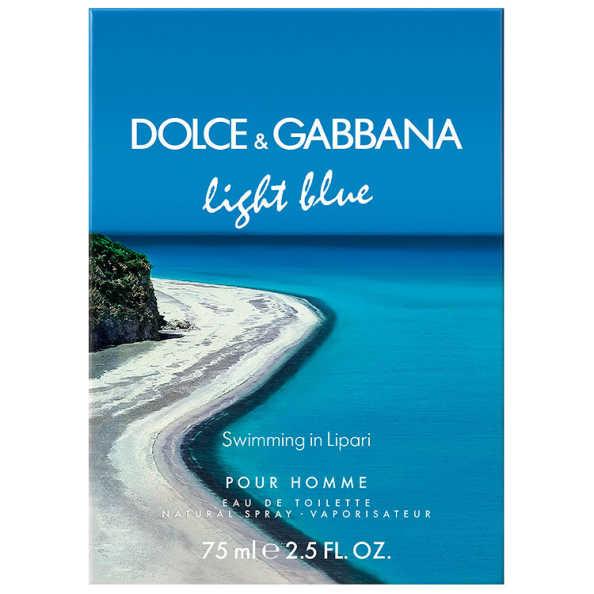 Dolce & Gabbana Perfume Masculino Light Blue Swimming In Lipari - Eau de Toilette 75ml
