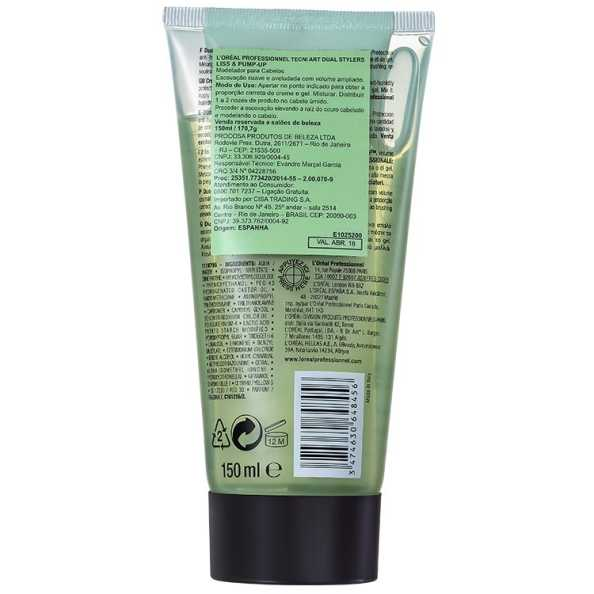 L'Oréal Professionnel Dual Styler by Tecni.Art Liss & Pump-Up - Leave-in 2 em 1 150ml