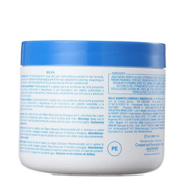 Alfaparf Rigen Milk Protein Plus Real Cream - Máscara de Tratamento 500g