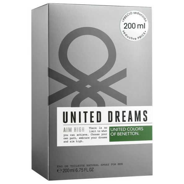 Benetton United Dreams Aim High Perfume Masculino - Eau de Toilette 200ml