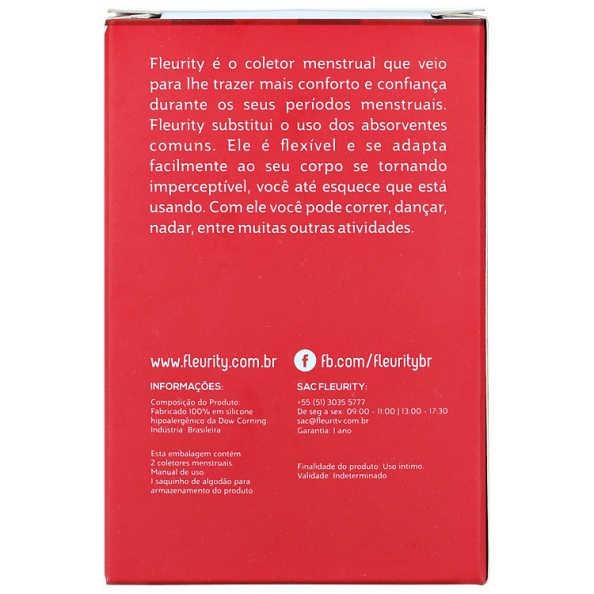 Fleurity Coletor Menstrual Tipo 2 (-30 anos ou sem filhos) - Coletor Menstrual 2un