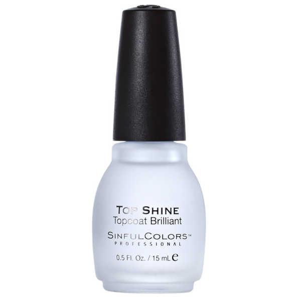 SinfulColors Professional Top Shine Topcoat Brilliant - Finalizador 15ml