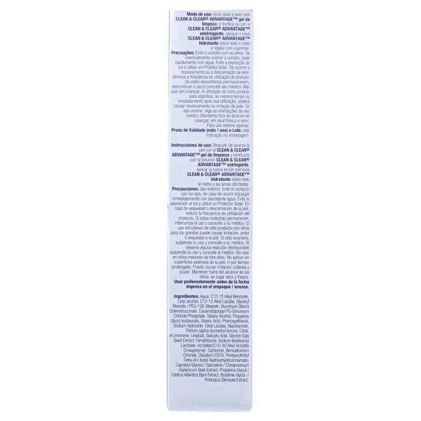 Clean & Clear Advantage Hidratante Antiespinhas - Hidratante Facial 50g