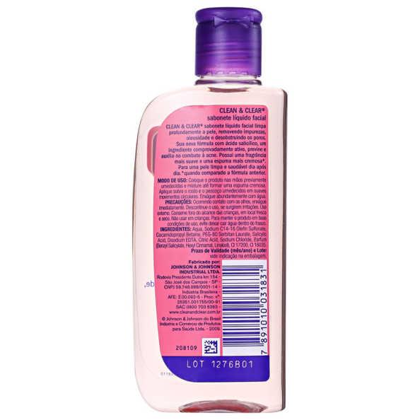 Clean & Clear Sabonete Líquido Facial Não Oleoso - Sabonete 200ml