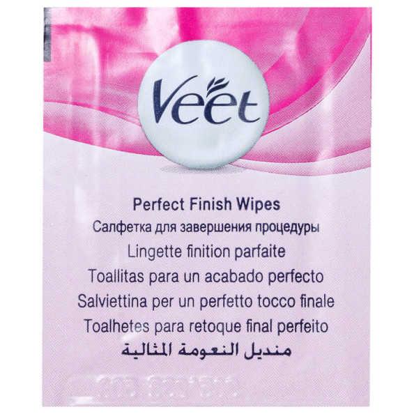 Veet Peles Normais e Secas - Folhas de Cera Fria para Depilação Facial 12un
