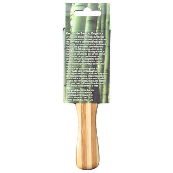 Orgânica Bambu de Bolsa - Escova de Cabelo