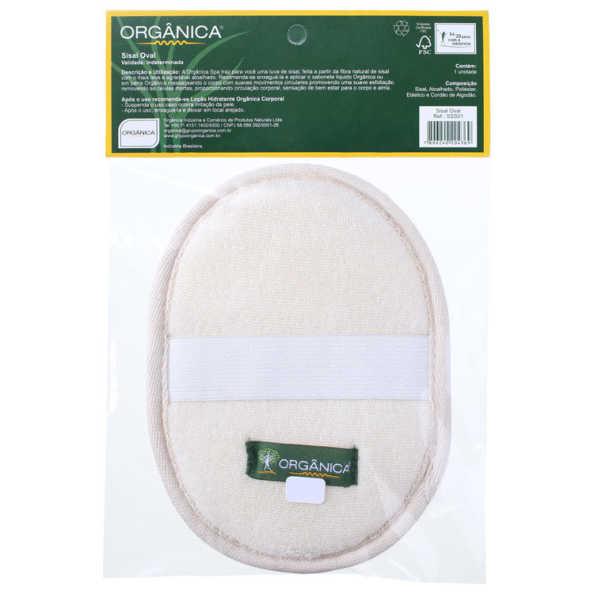 Orgânica Sisal Oval - Esponja de Banho