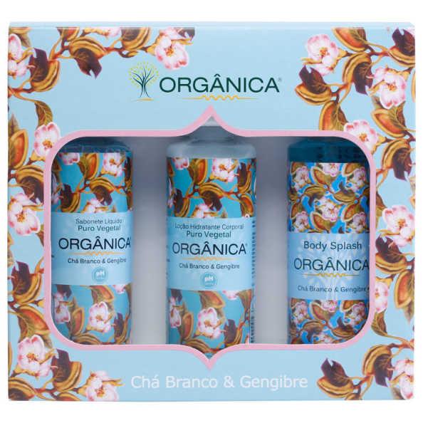 Orgânica Tri Set Chá Branco e Gengibre Kit (3 Produtos)