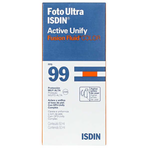 ISDIN Foto Ultra Active Unify Fusion Fluid Color FPS 99 - Protetor Solar Facial 50ml