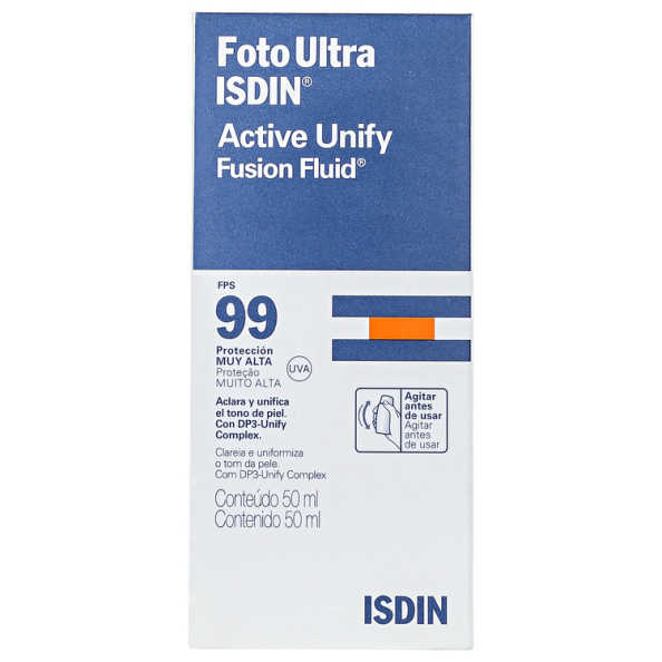 ISDIN Foto Ultra Active Unify Fusion Fluid FPS 99 - Protetor Solar Facial 50ml