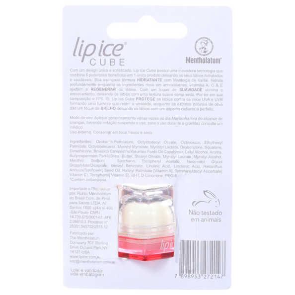 Lip Ice Cube Morango FPS 15 - Protetor Labial 6,5g