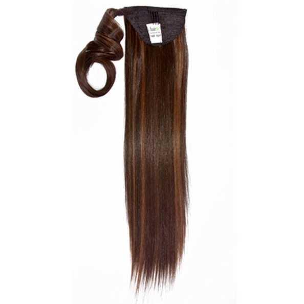 Hairdo Rabo de Cavalo Liso - Chocolate Com Mechas Cobre 46Cm