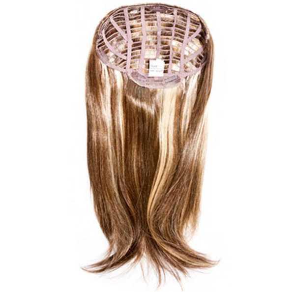 Hairdo Liso em Camadas - Castanho Com Mechas Douradas 63 Cm