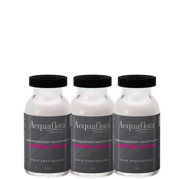 Acquaflora Nutrição Celular Tratamento - Ampola de Tratamento 3x12ml