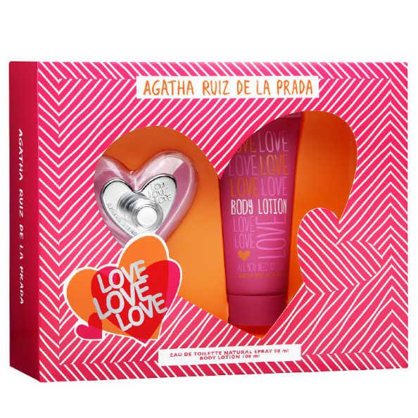Conjunto Love Love Love Agatha Ruiz de La Prada Feminino - Eau de Toilette 80ml + Loção 100ml