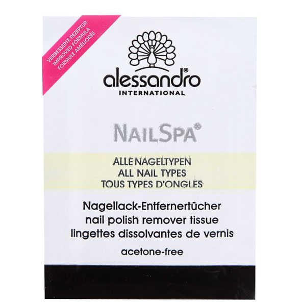 Alessandro Nail Spa Nail Polish Remover Tissue Lotus - Lenços Removedores de Esmalte