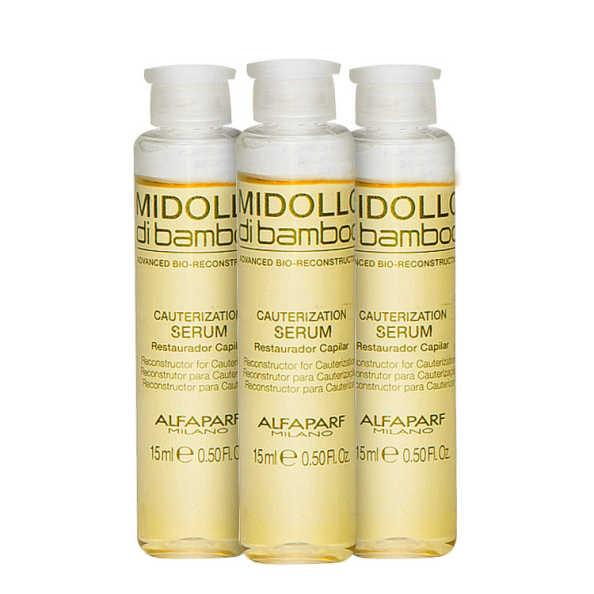 Alfaparf Midollo di Bamboo Cauterization - Serum 3x15ml