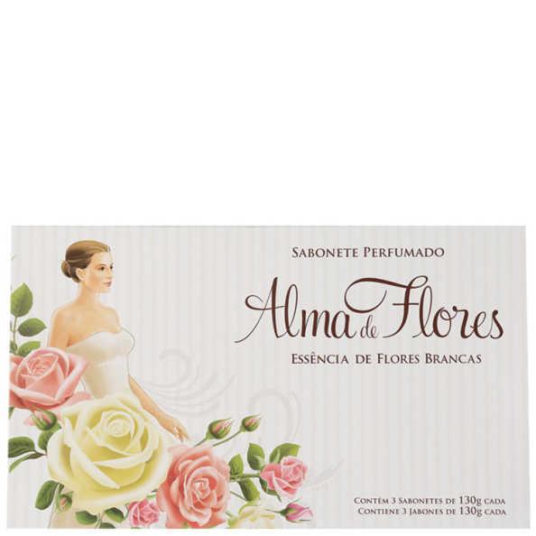Alma de Flores Essência de Flores Brancas Kit - Sabonetes 3x 130g