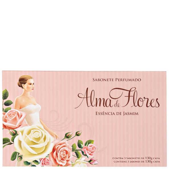 Alma de Flores Essência de Jasmim Kit - Sabonetes 3x 130g