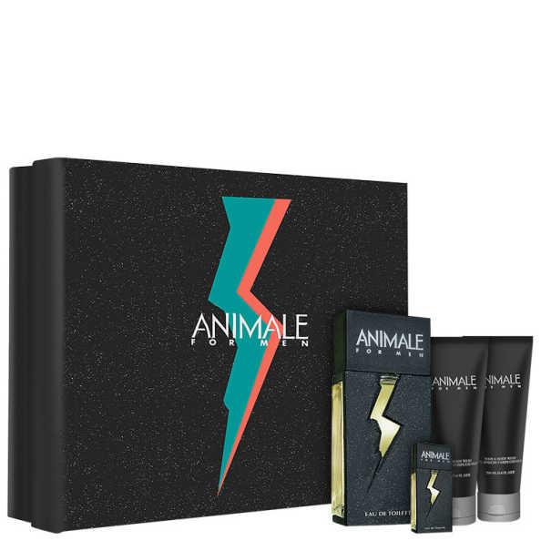 Animale Conjunto Masculino For Men - Eau de Toilette 100ml + Pós-Barba 100ml + Gel de Banho 100ml + Miniatura