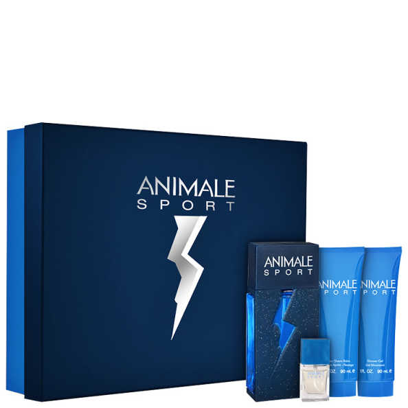 Conjunto Animale Sport For Men Masculino - Eau de Parfum 100ml + Loção Pós-Barba 90ml + Sabonete 90ml + Eau de Parfum 7,5ml
