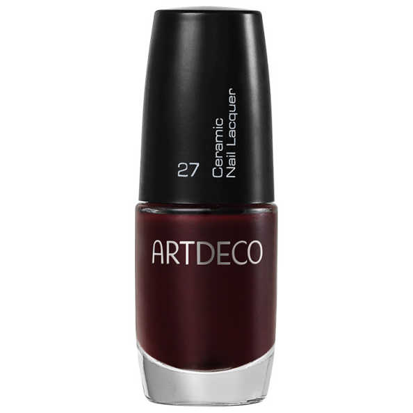 ArtDeco Ceramic Nail Lacquer 27 Black Red - Esmalte 6ml