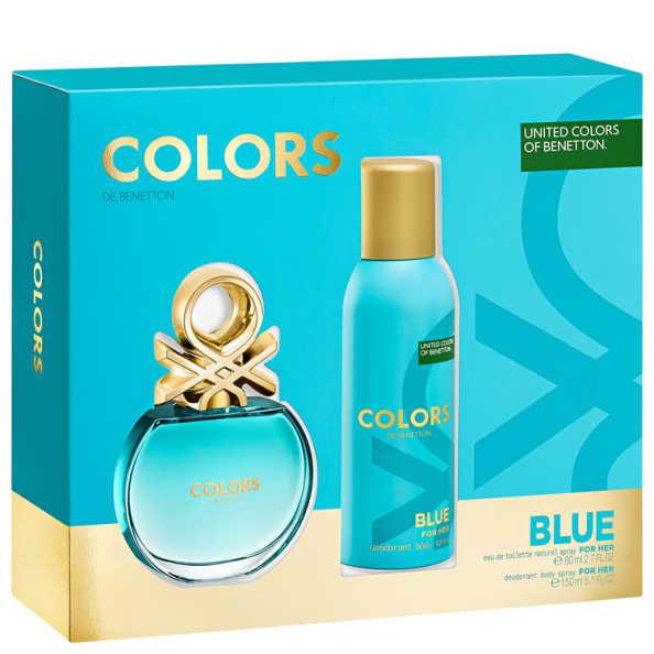 Benetton Conjunto Feminino Colors Blue - Eau de Toilette 80ml + Desodorante 150ml