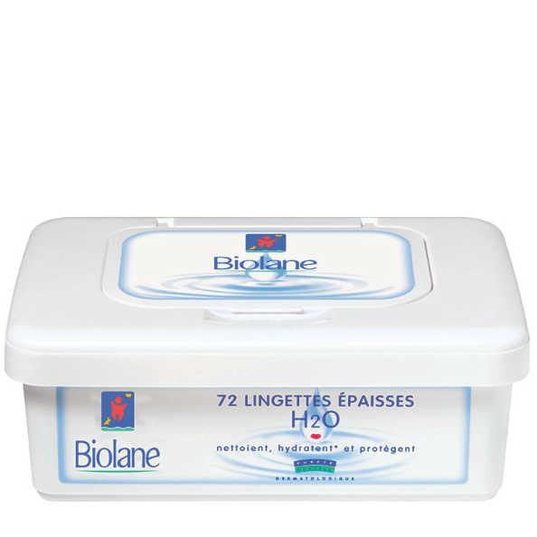 Biolane Lingettes Épaisses H2O - Lenços de Limpeza 72un.